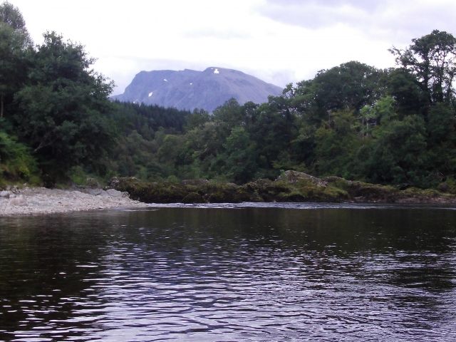 Falls Pool on River Lochy, with Ben Nevis above